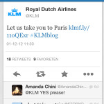 DareSheGoes-KLM Tweet